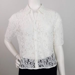 Express Floral Lace Top